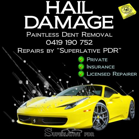 "Paintless Dent Removal ""Superlative PDR"" Hail Damage Repairs"