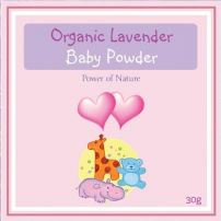 Power of Nature Organic Lavender Baby Powder 30g