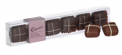 6 Pack Hot X Buns in Milk Chocolate - 75g
