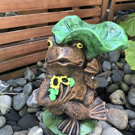 Frog Holding Lily Pad - GF233