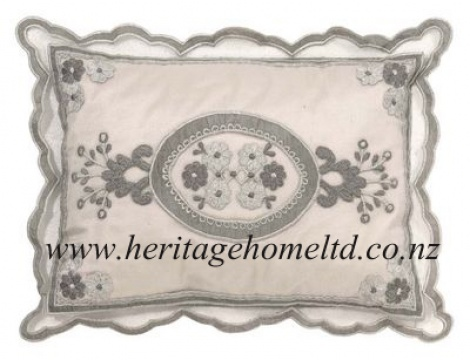 linen 007 Cushion Cover in white 23x33 cm