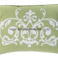 linen 009 Cushion Cover in Green 38x50 cm
