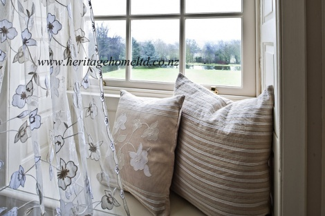 Natural Linen Curtains & Cushions