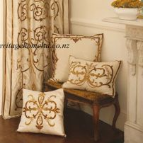 Frances Silk Curtains and Cushions