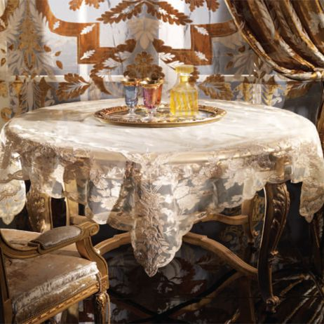 A. Table Cover with Designer Drapes