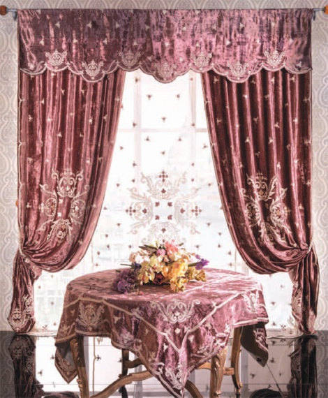 A. Beautiful Drapes with Throw