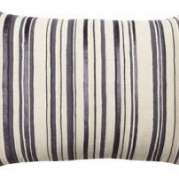 Artist Linen Purple Stripe Cushion 33x55cm