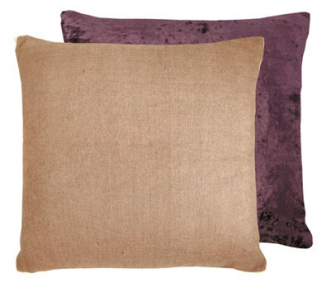 Burgundy Reversible Cushion 46x46 cm