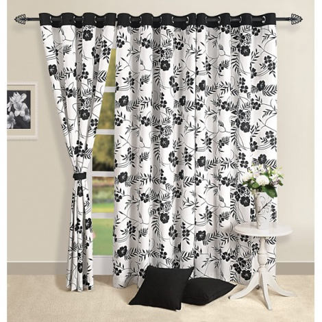 Black & White Curtain pair-5313