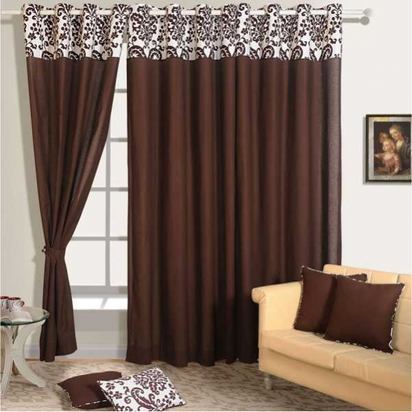 Choco Brown Solid Curtain Pair 9009 Heritage Home
