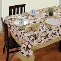 Six Seat Rectangle Dining Table Cover + Six Napkins-619