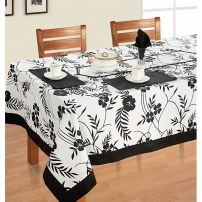 Six Seat Rectangle Dining Table Cover + Six Napkins-5313