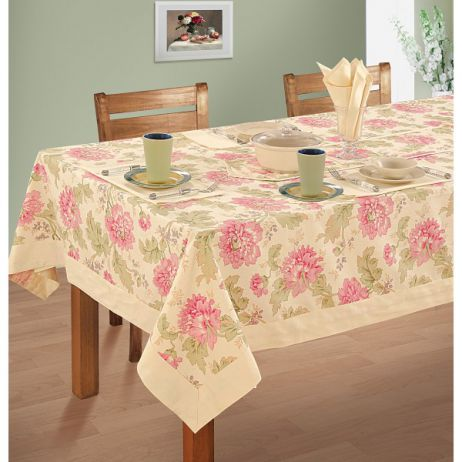 Six Seat Rectangle Dining Table Cover + Six Napkins-3612