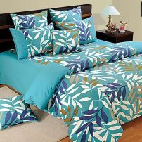 Aqua Leaves 100% Premium Cotton