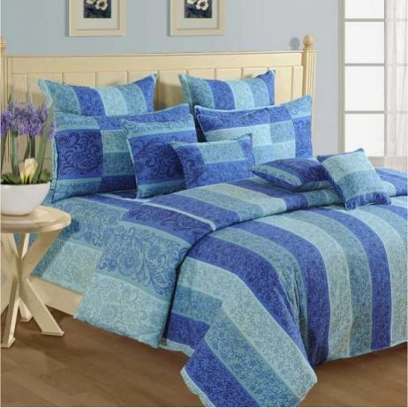 Azure Hues Shades 100% Premium Cotton
