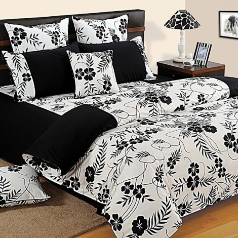 Black White Garden 100% Premium Cotton