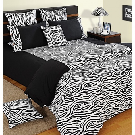 Black and White Zebra 100% Premium Cotton
