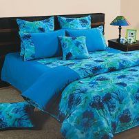 Blue Flowers 100% Premium Cotton
