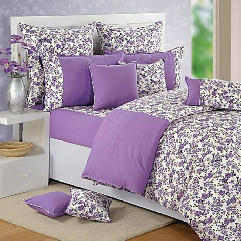 Purple Flowers 100% Premium Cotton