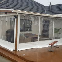 Deck Awning/Clear drops