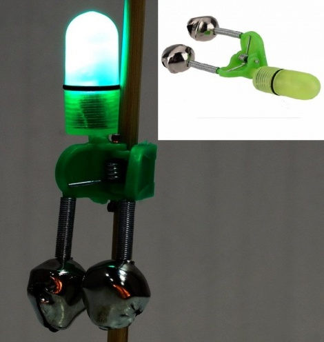 LED Fishing Twin bell bite Alarm