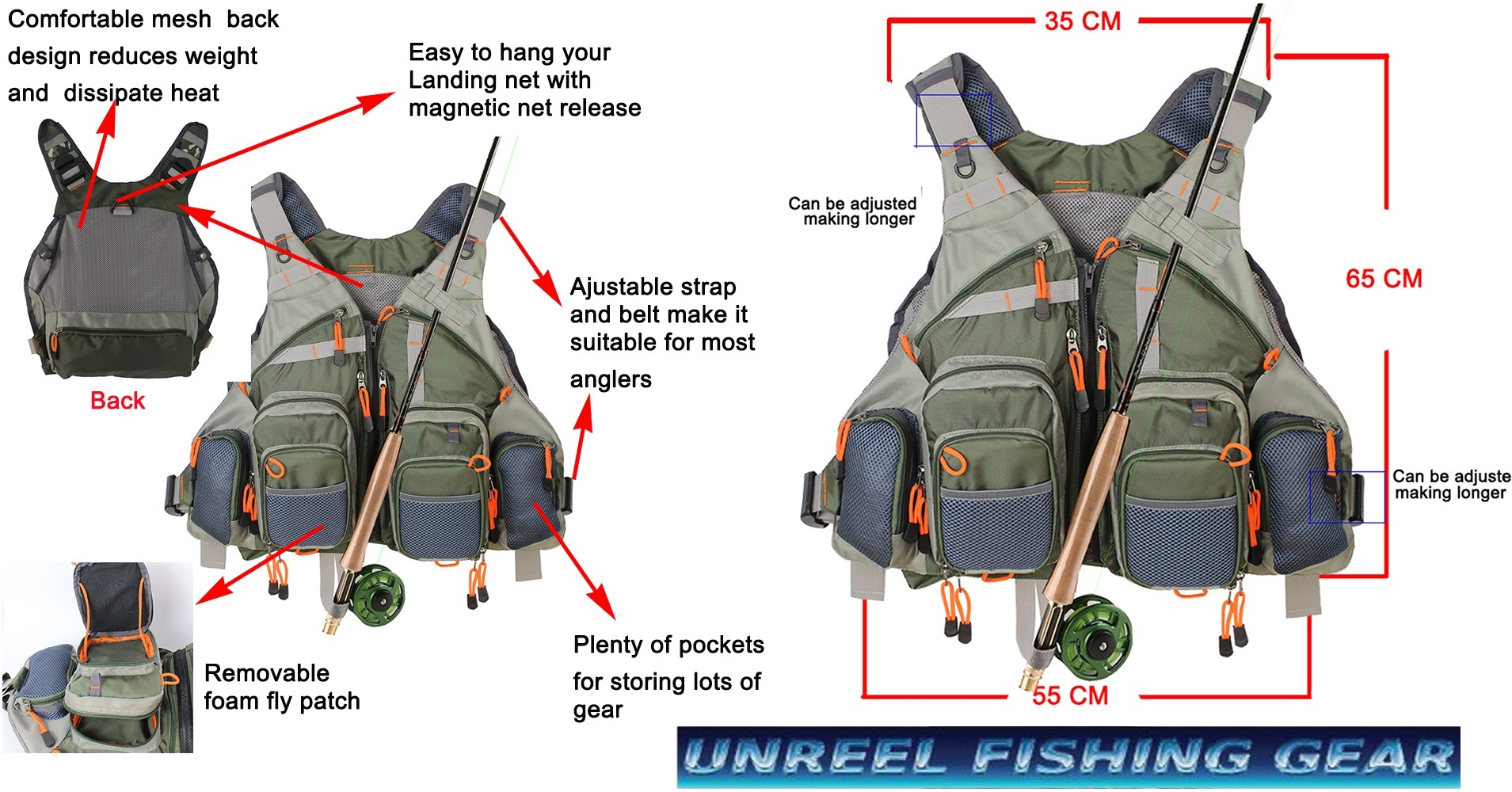 Fly fishing vest pack free flybox unreel fishing gear for How to get free fishing gear
