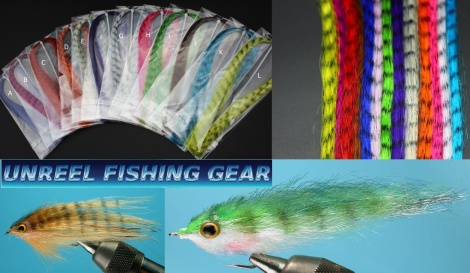 SYNTHETIC ZEBRA BARRED HAIR FOR FLY TYING