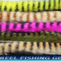 BLACK BARRED RABBIT ZONKER STRIPS FOR FLY TYING