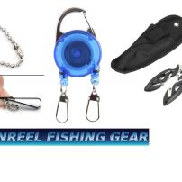 DOUBLE RETRACTABLE ZINGER, SMALL FISHING PLIERS AND LINE NIPPERS