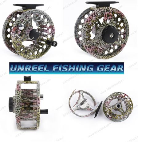 Rainbow Trout Skin Fly Fishing Reel 7/8 FSRT95