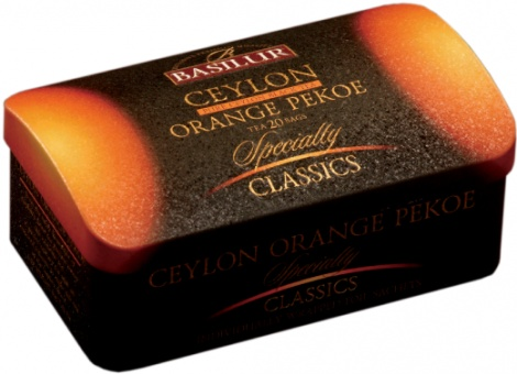Ceylon Orange Pekoe 20 tea bags in metal tin SALE