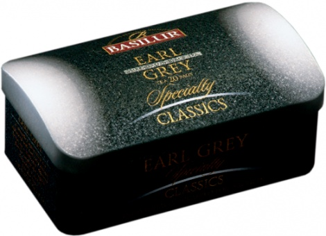 EARL GREY 20 tea bags in metal tin