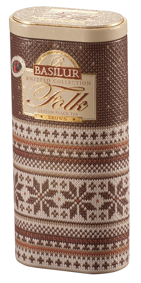 Knitted - FOLK BROWN 100g