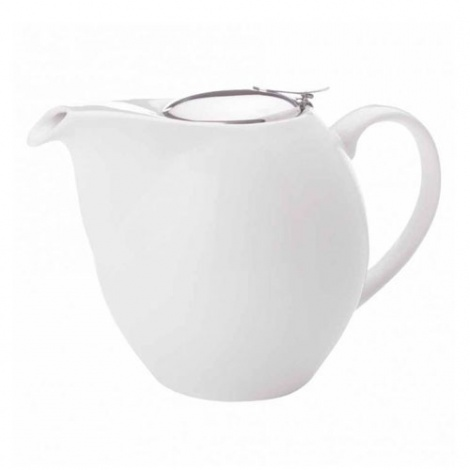 Teapot with lid and infuser white 700ml