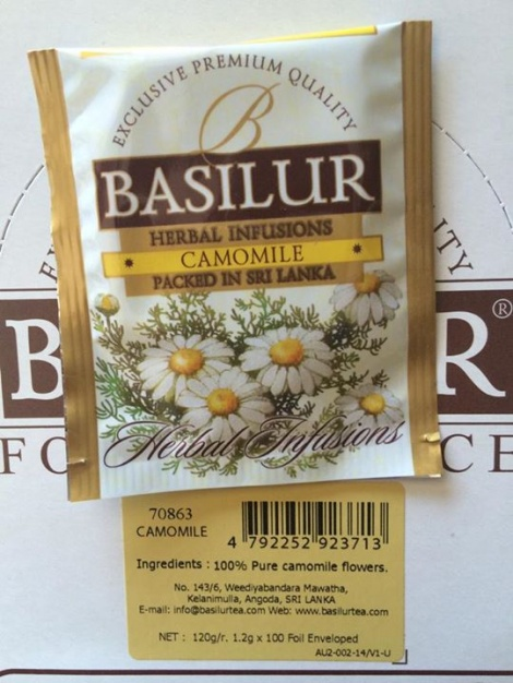 Herbal Infusions - CAMOMILE - foil enveloped  tea bags NEW