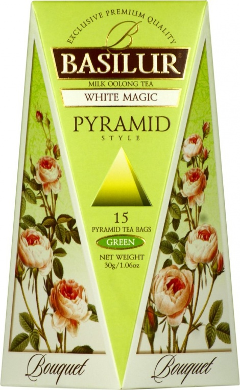 WHITE MAGIC - Milk Oolong green Tea in pyramid tea bags