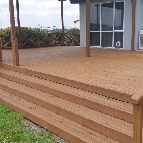 Deck clean and stain - After