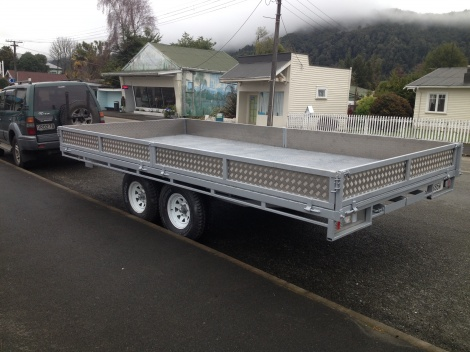 Trailer Flat Deck Semi Tip
