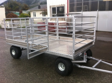 3m x 1.5 Flat Deck Calf trailer