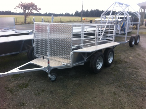 Stock Trailer Tandem Axle  Calf  8 x 5