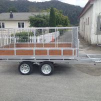 Flat Deck Tip Trailer 3 x 2 with Crate