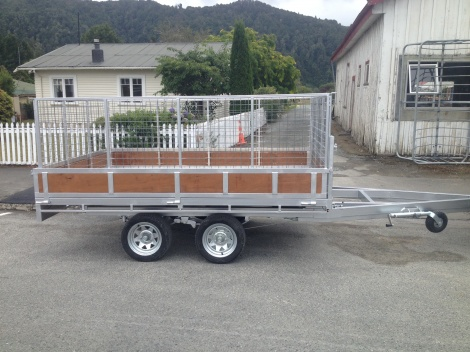 Flat Deck Tip Trailer 3 x 2 - wooden