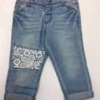 BEBE XW19409A LACE PATCH JEANS