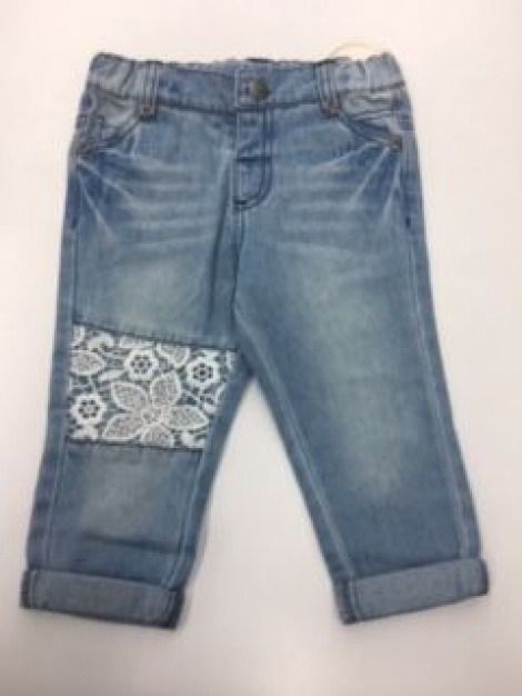BEBE XW19409 LACE PATCH JEANS