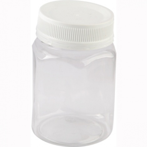 Hexagonal Clear PET Honey jar 500g