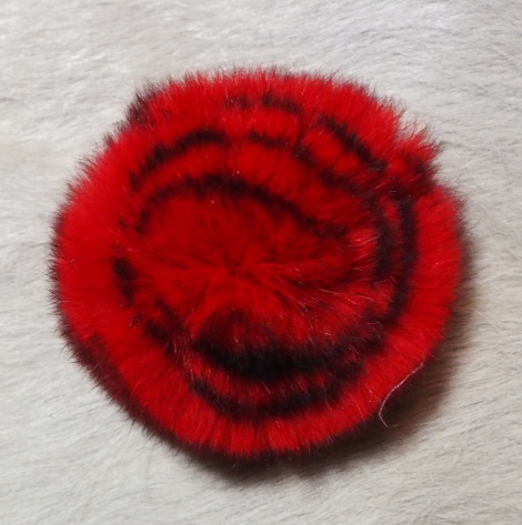 A Gorgeous red fur rose - Perfect for winter