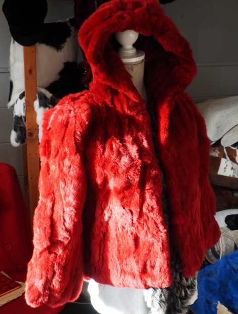 Red Riding Hood - A wonderful Fully Lined Childs Fur Coat This coat has a beautiful cut and swing -