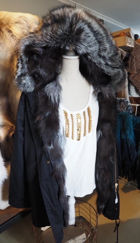 The Ultimate in Casual Winter Luxury  -  A Silver Fox Fur lined Parka - Too Beautiful & so Warm!!