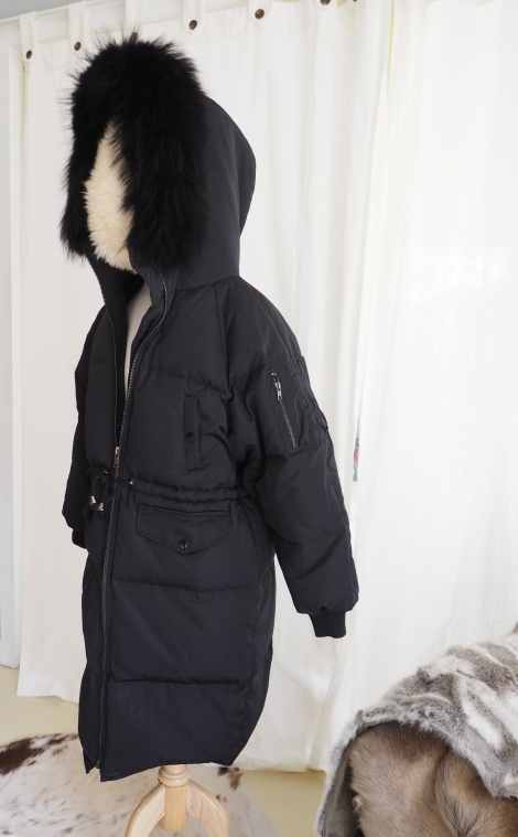 Beautiful Long Line Fur Trimmed Parka - Beat those winter chills!!