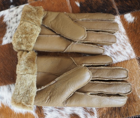 Soft High Quality Lambskin Leather Fleece lined Gloves -